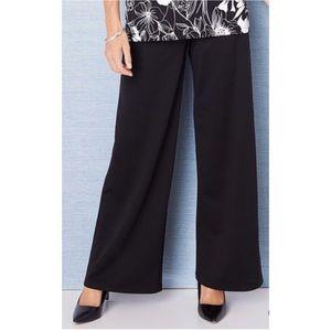 NWT! Plus Size Pull On Black Palazzo Pants